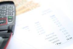 Pagar-envelope Imagem de Stock