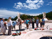 Pagar homenaje, Monte Cassino, Italia Imagen de archivo