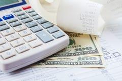 Pagar impuestos Imagen de archivo