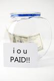 Pagato fuori il vostro debito Fotografia Stock Libera da Diritti