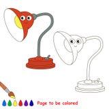 Page à colorer, jeu simple d'éducation pour des enfants Photos stock