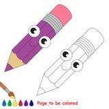 Page à colorer, jeu simple d'éducation pour des enfants Image libre de droits