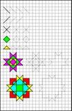 Page éducative avec des exercices pour des enfants sur un papier carré Images stock