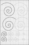 Page éducative avec des exercices pour des enfants sur un papier carré Images libres de droits