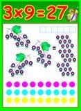 Page éducative pour des enfants avec la table de multiplication Photo libre de droits