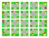 Page éducative pour des enfants Coupez les places, faites le village avec vos propres lois du trafic et conduisez en voitures de  illustration libre de droits