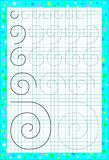 Page éducative pour des enfants sur un papier carré Images libres de droits