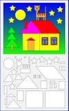 Page éducative pour les enfants en bas âge image stock