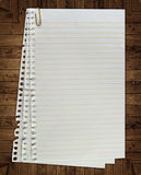 Page. Paper page notebook. textured isolated on the white backgrounds. collection Stock Photography
