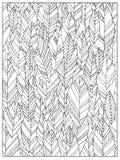 Page adulte abstraite non colorée tirée par la main de livre de coloriage avec des feuilles d'automne Images libres de droits