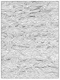 Page adulte abstraite non colorée tirée par la main de livre de coloriage avec la texture en bois Photo libre de droits