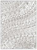 Page adulte géométrique non colorée tirée par la main de livre de coloriage Photo libre de droits