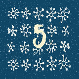Page Advent Calendar 25 days of Christmas with space for text. Royalty Free Stock Photo