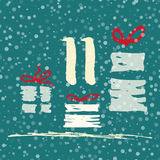 Page Advent Calendar 25 days of Christmas with space for text. Stock Photos