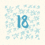 Page Advent Calendar 25 days of Christmas with space for text. Royalty Free Stock Image