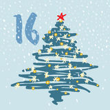 Page Advent Calendar 25 days of Christmas with space for text. Stock Photography