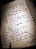 Page anglaise et d'urdu d'écriture de grunge Images libres de droits