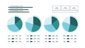 Page animée abstraite de rapport de données illustration stock