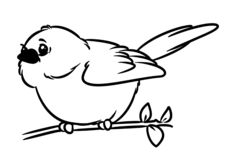 Page animale de coloration de caractère de petit oiseau jaune canari illustration stock