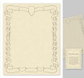 Page with antique styled decorations Royalty Free Stock Images