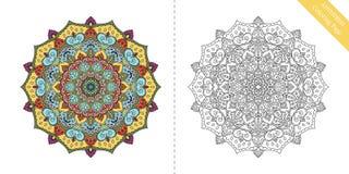 Page Antistress Mandala Ninth de coloration Image libre de droits
