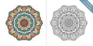 Page Antistress Mandala Second de coloration Image libre de droits