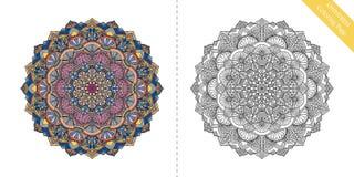 Page Antistress Mandala Third de coloration Photo libre de droits
