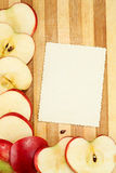 Page with apples Royalty Free Stock Photography