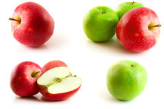 Page of apples isolated Stock Photo