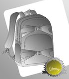 Page backpack template art Stock Image
