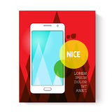 Page or banner design with mobile phone Stock Image