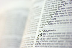 Page from the Bible Royalty Free Stock Images