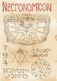Page from black magic book Necronomicon Royalty Free Stock Images