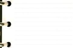 Page blanc d'un ordre du jour photos libres de droits