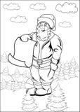 Page blanc de liste du père noël de dessin animé Image libre de droits