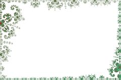 Page blanc encadré par la trame de fractale illustration stock