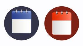 Page blanche d'icône de calendrier dans deux variantes illustration libre de droits