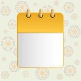 Page blanche de calendrier sur le fond de l'ornement ethnique illustration stock