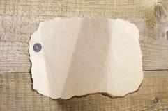 Page blanche de vieux papier déchiré Photos libres de droits