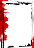 Page Border Painting. Abstract Page Border. ( Computer Generated Image Stock Illustration