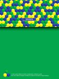 Page with brazilian colors. Abstract background with place for text. Decorative page Stock Images