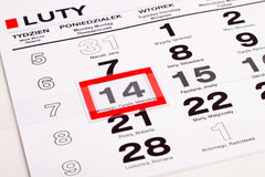 Page of calendar Royalty Free Stock Photos