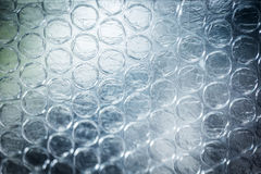 Page of clear bubbles on bubblewrap packaging material Royalty Free Stock Image