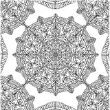 Page coloring pattern with circular mandala isolated  illustration Stock Image