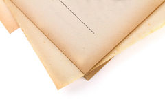 Page corner of old paper and book Royalty Free Stock Photography