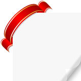 Page curl with ribbon Royalty Free Stock Image
