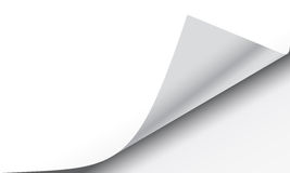 Page Curl Turning Effect. Page curl with shadow on a blank sheet of paper, design element for advertising and promotional message EPS 10 vector illustration royalty free illustration