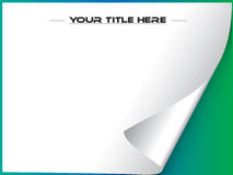 Page curl vector with copyspace Stock Photo