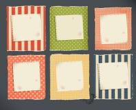 Page déchirée décorative de papier et de cahier Image libre de droits