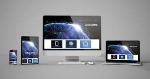 page d'accueil de conception d'isolement par dispositifs sensibles images libres de droits